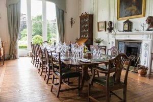 Dining table in the big house in kinblethmont