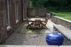 Outside seating area
