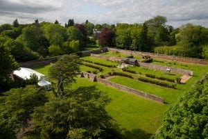 Large garden with marquee tent